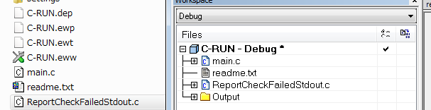 Add the source file to IAR Embedded Workbench